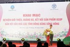 Hà Nội lần đầu tiên giới thiệu, quảng bá, kết nối sản phẩm OCOP gắn với văn hóa các tỉnh Đồng bằng sông Hồng