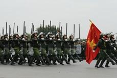 越共十三大安保出征仪式暨安保应急处突演练今日在河内举行