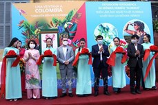 哥伦比亚风土人情图片展在广南省开幕
