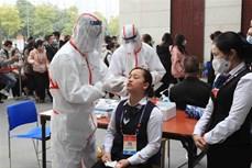 越共十三大参会代表、媒体、保安等力量第三次接受新冠病毒检测