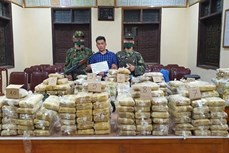越南破获一起特大跨境毒品案 缴获各类毒品近350公斤
