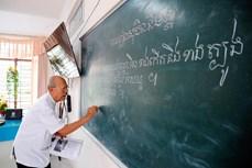 南部地区高棉族村庄的教师