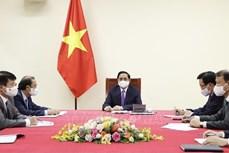 越南政府总理范明政与加拿大总理特鲁多通电话