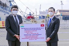 越南接收由印度政府捐赠的一批医疗设备