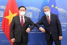 越南国会主席王廷惠与欧洲议会主席举行会谈