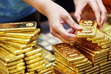 今日上午越南国内市场黄金价格每两超过5700万越盾