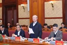 越共中央政治局委员、中央书记处常务书记陈国旺:全力以赴  为越共十三大提供服务