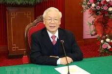 越共中央总书记、国家主席阮富仲与柬埔寨首相洪森通电话