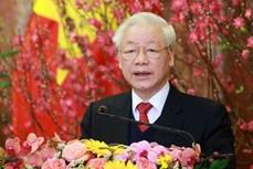 越南党和国家领导人向非洲联盟轮值主席致贺电