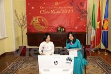 越南驻意大使馆举行收养越南孩子意大利家庭新春见面会