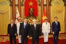越共中央总书记、国家主席阮富仲接受3国新任驻越大使递交的国书