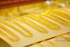 今日上午越南国内市场黄金价格每两下降13万越盾