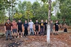隆安省发现非法入境的12名外国人