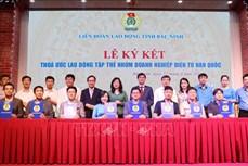 北宁省7家韩国企业与8万名劳工签署集体劳动合同