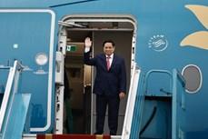 越南政府总理范明政离开河内前往印尼雅加达出席东盟领导人会议