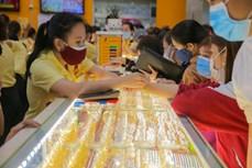 今日上午越南国内市场黄金价格每两在5500万越盾以上