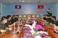 新冠肺炎疫情:老挝接收越南国防部提供的医疗物资