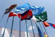 越南金星红旗在南苏丹共和国迎风飘扬