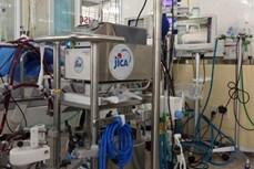 日本国际协力机构向大水镬医院提供收治新冠患者的急救设备