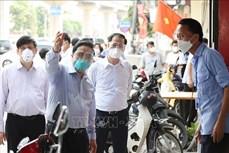 政府总理范明政视察河内疫情防控工作