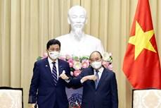 越南国家主席阮春福会见日本防卫大臣岸信夫