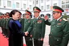 阮氏金银主席出席第二总局人民武装力量英雄称号授予仪式