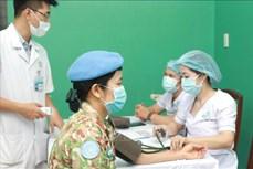 新冠肺炎疫情:为即将赴南苏丹参加维和行动的战士接种新冠疫苗