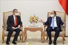 越南政府总理阮春福会见奥地利驻越大使