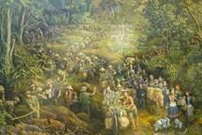 描绘4500个人物的《奠边府》绘画作品亮相