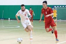 2021国际足联室内足球世界杯亚洲区预选赛附加赛第一回合:越南队与黎巴嫩队以0比0战平