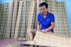 Nghề dệt mành cọ ở Đồng Thịnh, Thái Nguyên