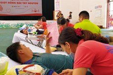 Ngày hội hiến máu Giọt hồng Bắc Tây Nguyên tại Kon Tum