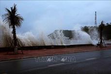 Trong 12 giờ tới, bão số 2 đi vào đất liền các tỉnh từ Ninh Bình đến Nghệ An và suy yếu dần thành áp thấp nhiệt đới