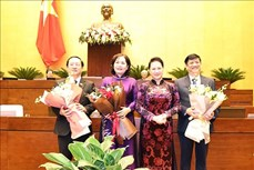 Kỳ họp thứ 10, Quốc hội khóa XIV: Quốc hội phê chuẩn bổ nhiệm 2 Bộ trưởng và Thống đốc Ngân hàng Nhà nước