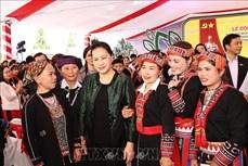 Chủ tịch Quốc hội Nguyễn Thị Kim Ngân dự Ngày hội đại đoàn kết toàn dân tộc tại xã Quang Minh, tỉnh Yên Bái