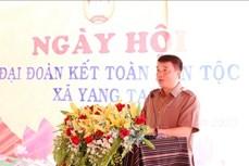 Ông Y Thanh Hà Niê Kdăm dự Ngày hội Đại đoàn kết toàn dân tộc liên khu dân cư xã Yang Tao