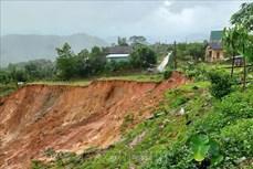 Quảng Ngãi: Sạt lở núi đe dọa tính mạng người dân khu tái định cư Anh Nhoi 2
