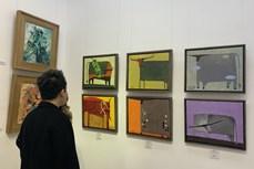 """Hơn 80 tác phẩm mỹ thuật trưng bày trong triển lãm """"Đón Trâu vàng 2021"""""""