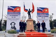 Khánh thành tượng đài đại thi hào Nga Pushkin tại Hà Nội