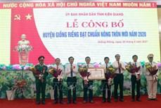 Huyện Giồng Riềng đạt chuẩn nông thôn mới