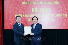 Đồng chí Phùng Xuân Nhạ giữ chức vụ Phó Trưởng Ban Tuyên giáo Trung ương