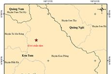 Động đất tại Kon Plông ở mức yếu, không gây rủi ro thiên tai