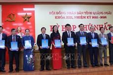 Bầu lãnh đạo HĐND và UBND tỉnh Quảng Ngãi nhiệm kỳ 2021-2026