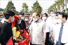 Chủ tịch nước Nguyễn Xuân Phúc dự Lễ khai giảng năm học mới tại Trường Phổ thông Dân tộc nội trú THPT tỉnh Yên Bái