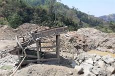 Phát hiện dấu hiệu khai thác khoáng sản vàng trái phép ở huyện Đăk Đoa