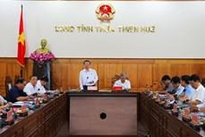 Phó Chủ tịch Quốc hội Phùng Quốc Hiển kiểm tra công tác bầu cử tại tỉnh Thừa Thiên - Huế