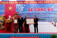 Phú Nhuận trở thành xã nông thôn mới nâng cao đầu tiên của Bến Tre