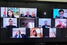 """""""胡志明主席——民族解放英雄、文化名人""""的视频研讨会在埃及举行"""