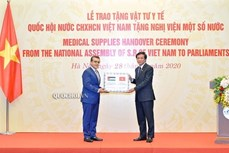 越南国会向非洲和中东国家议会赠送医疗物资