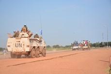 越南参加南苏丹维和任务之旅:随同军事观察员参加巡逻活动